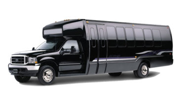 black vip party bus